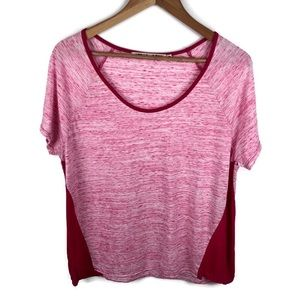 Michael Stars Pink Space Dye Short Sleeve T-Shirt